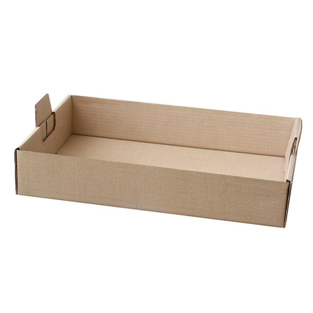 Plateau de transport à poignées carton kraft 54,5x38,5x9,5cm - par 50
