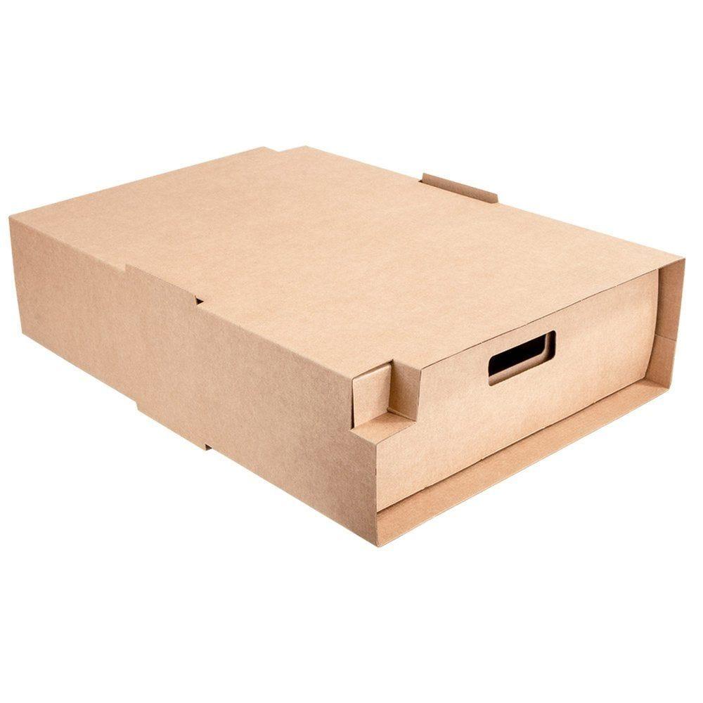 Etui traiteur carton brun ondulé 45,5x34x11,5cm - par 25