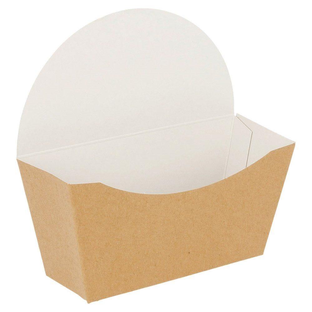 Boîte pour bagel carton brun 12x6x12cm - par 100