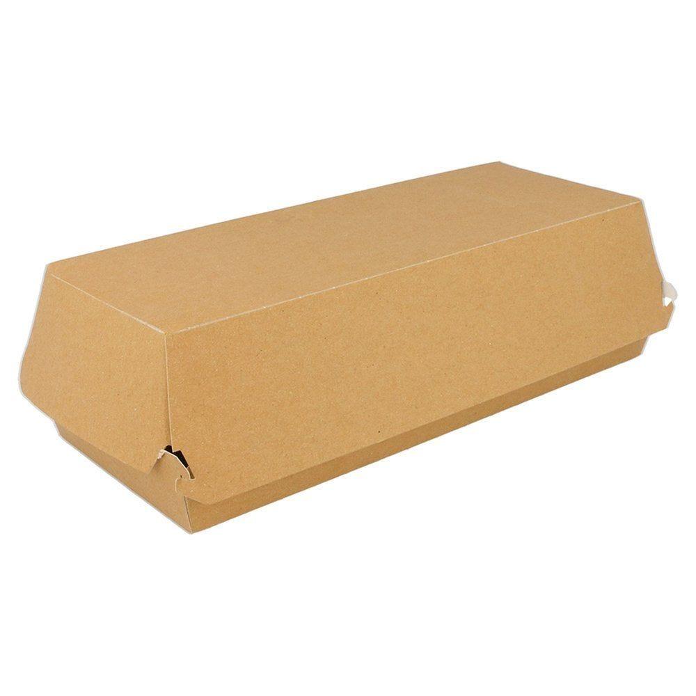 Boîte panini en carton Kraft 26x12x7cm - par 50