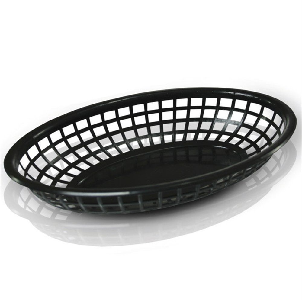 Corbeille ovale PP noir 24x15x4,5cm - par 12