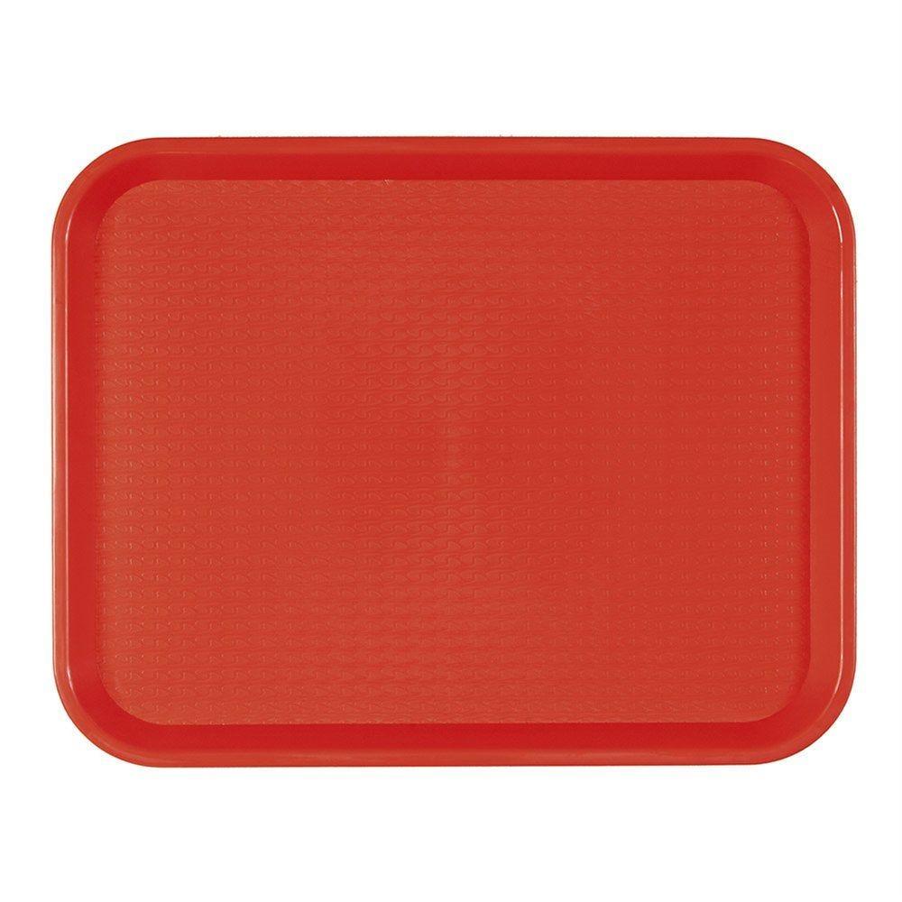 Plateau fast food rouge 27,5x35,5cm