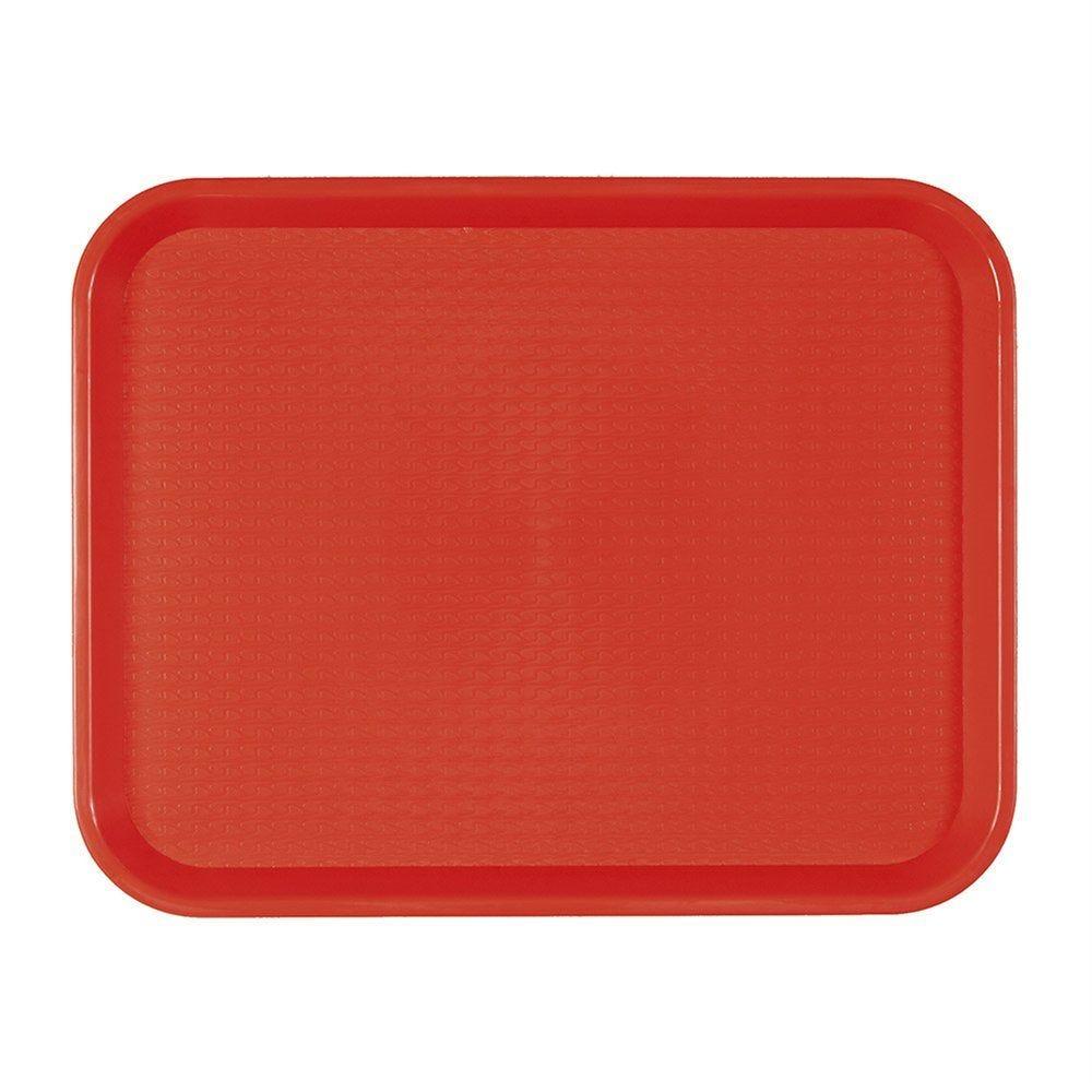 Plateau fast food rouge 30,4x41,4cm