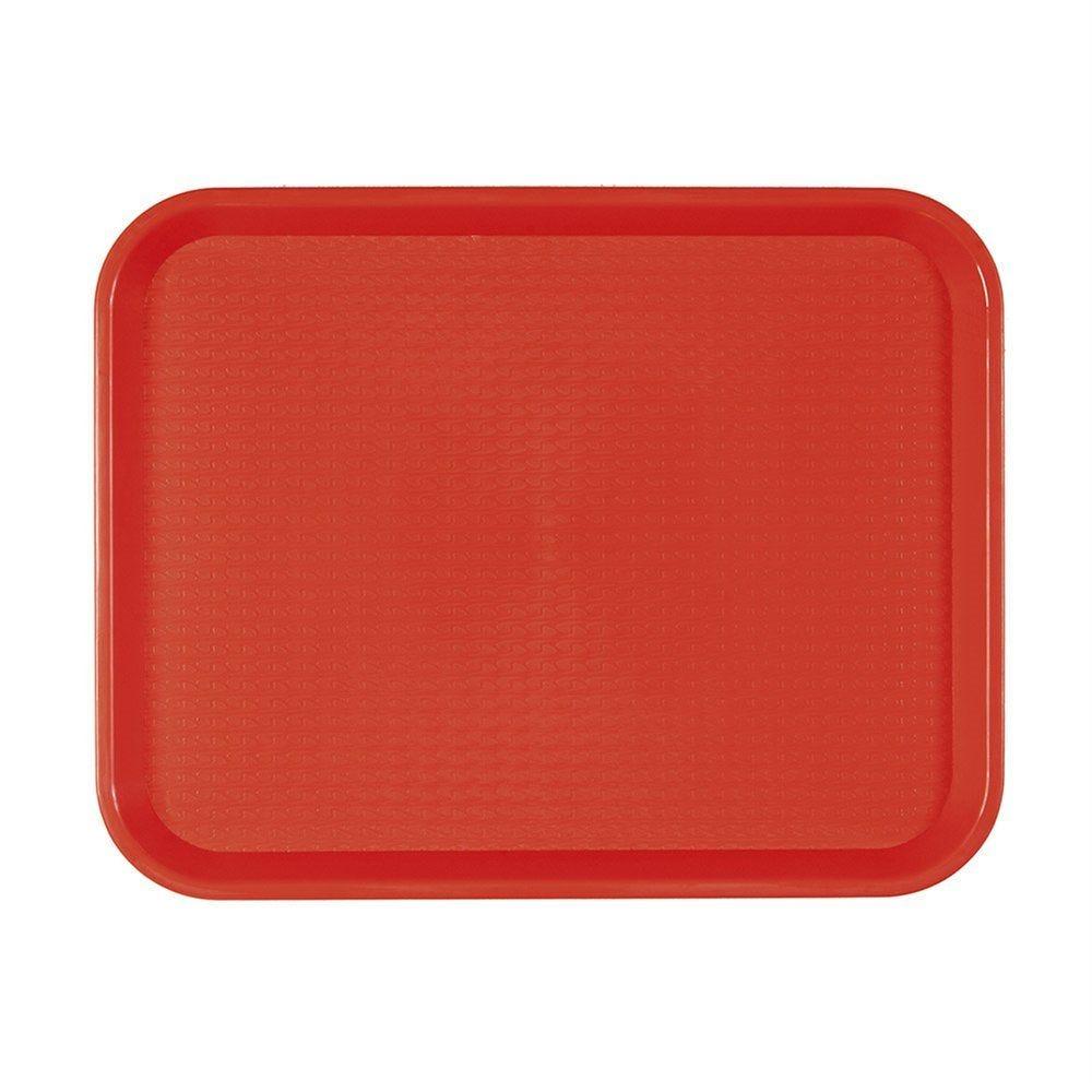 Plateau fast food rouge 35,5x45,3cm