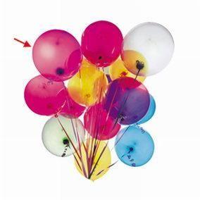 Ballons rouge unis par 100 (photo)
