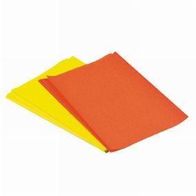 Feuille fluo orange et jaune fluo 29,7 x 42 cm (photo)