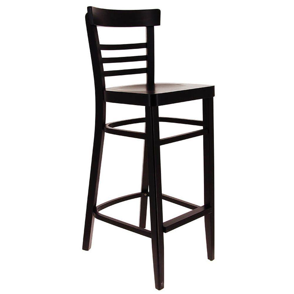 Chaise haute boston wengé