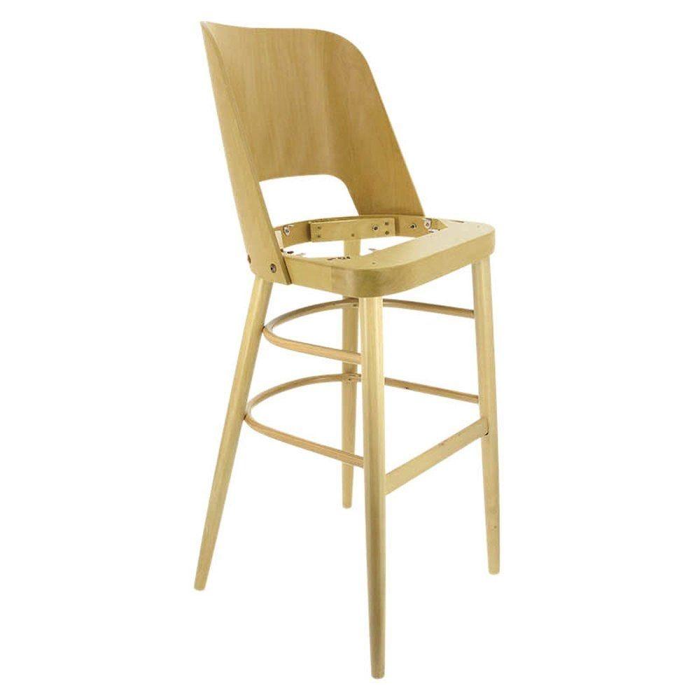Chaise haute colisee hetre naturel sans assise