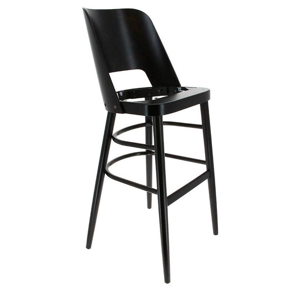 Chaise haute colisee hêtre wengé sans assise