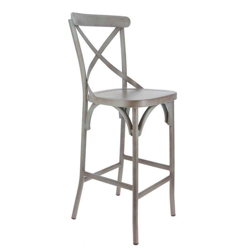 Chaise haute bayonne gris - par 2