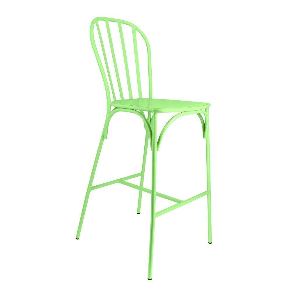 Chaise haute biscarosse verte - par 2