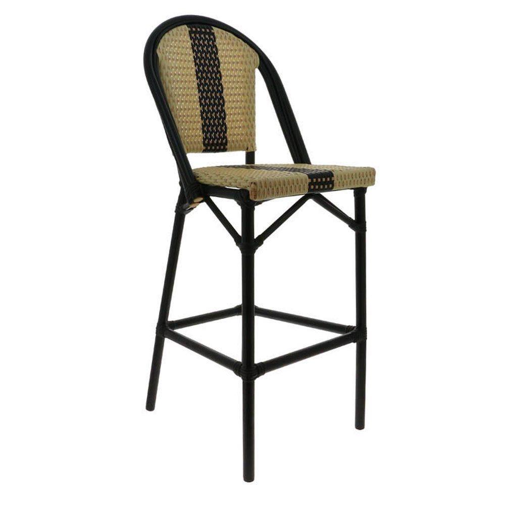 Chaise haute andorre beige et noir