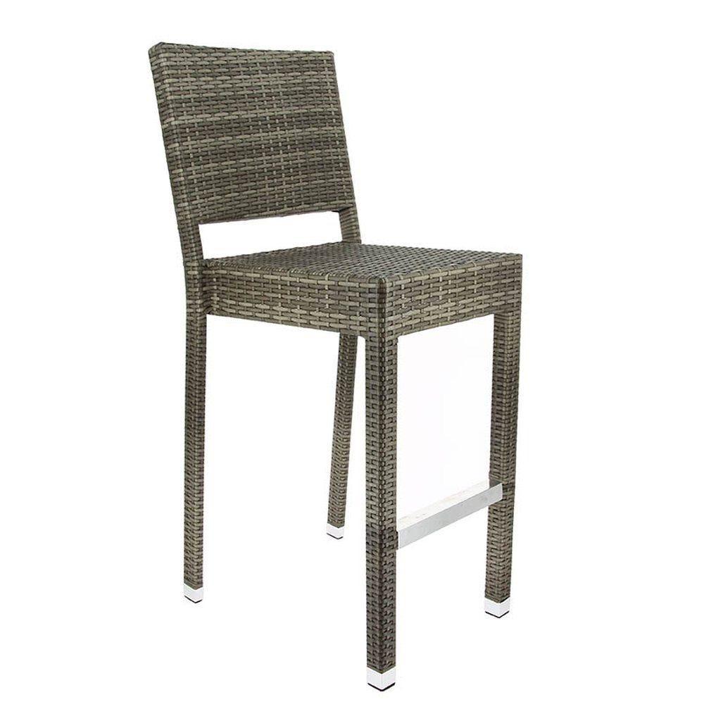 Chaise haute cannes gris