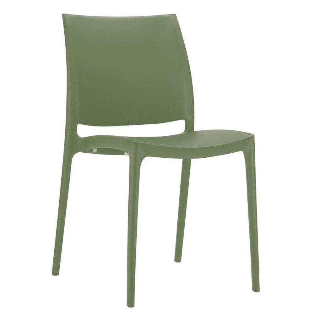Chaise inca vert olive