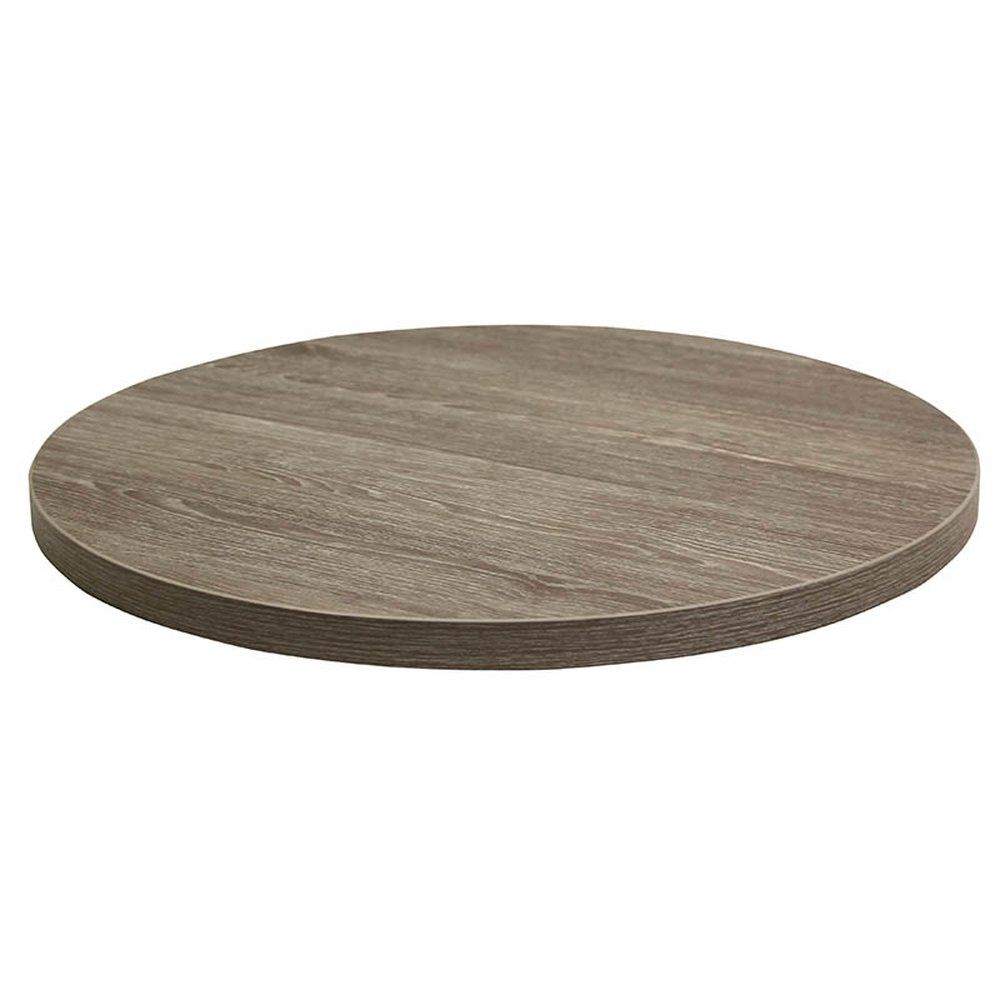 Plateau de table tavola ø110cm chêne fumé