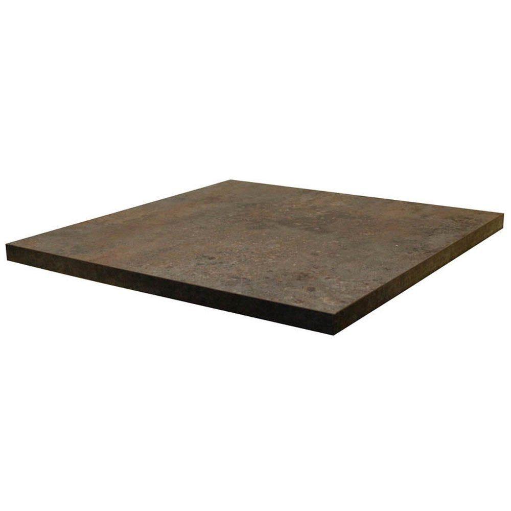 Plateau de table tavola 60x60cm caldera