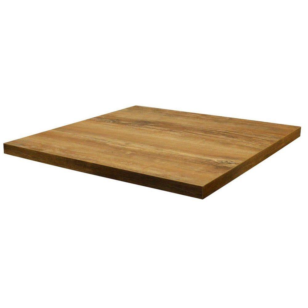 Plateau de table tavola 60x60cm chêne slavona