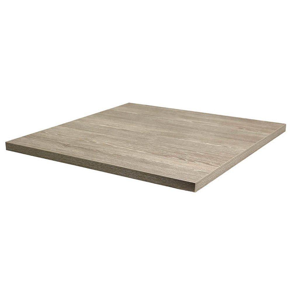 Plateau de table tavola 70x70cm chêne fumé