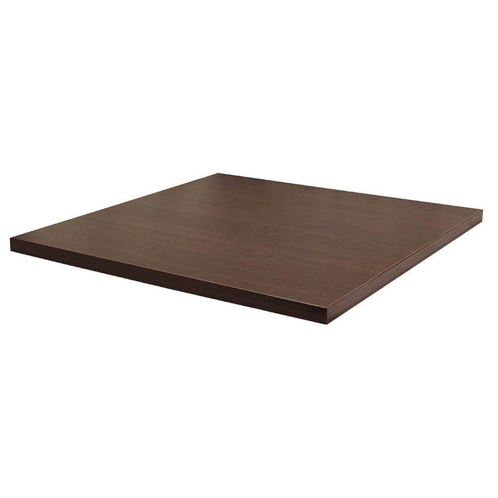 Plateau de table tavola 70x70cm wengé