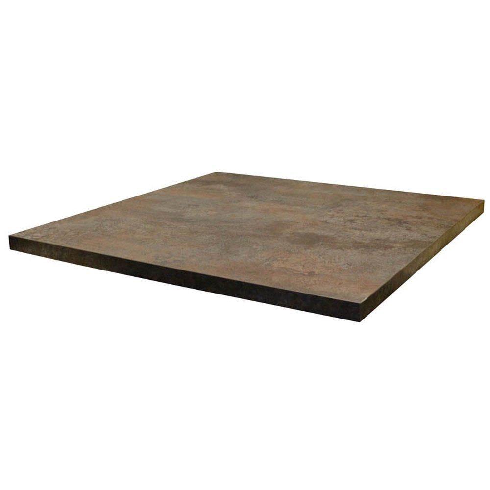 Plateau de table tavola 70x70cm caldera