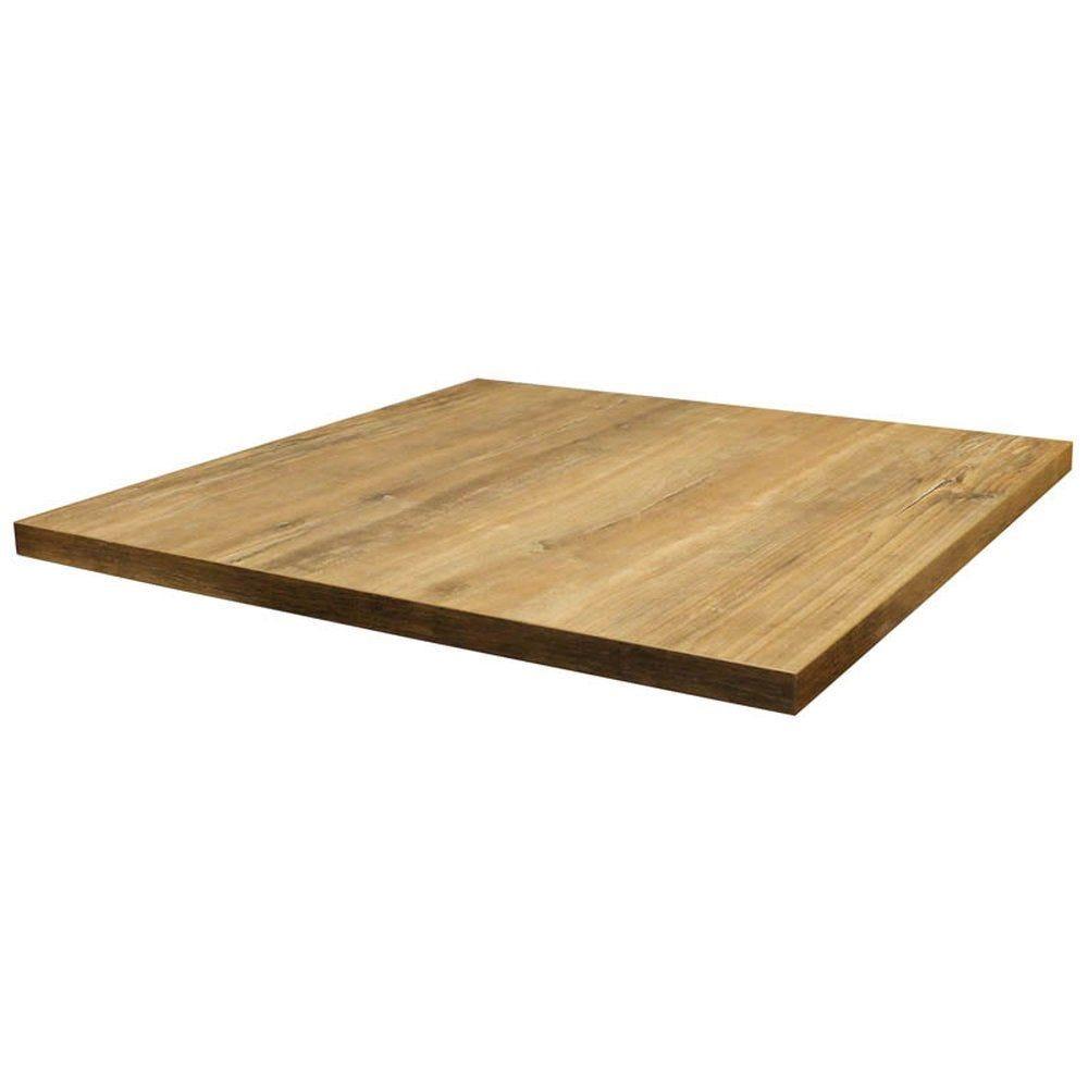 Plateau de table tavola 70x70cm chêne slavona