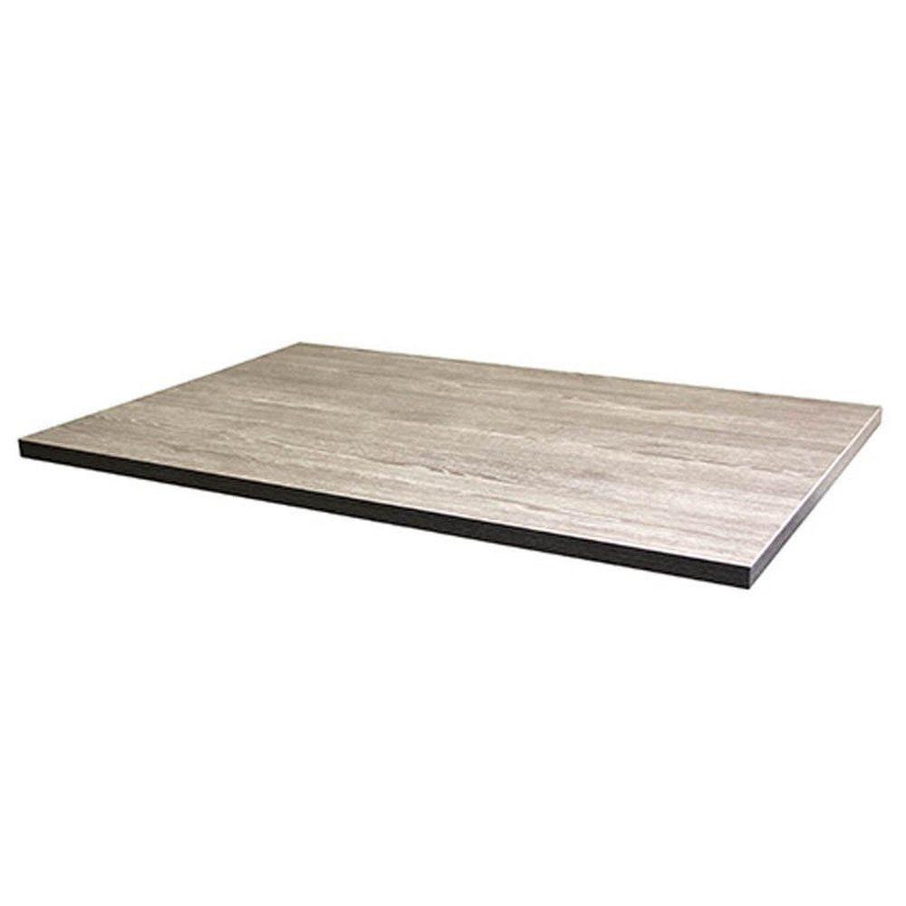 Plateau de table tavola 110x70cm chêne fumé