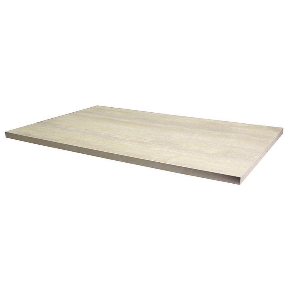 Plateau de table tavola 110x70cm travolona blanc
