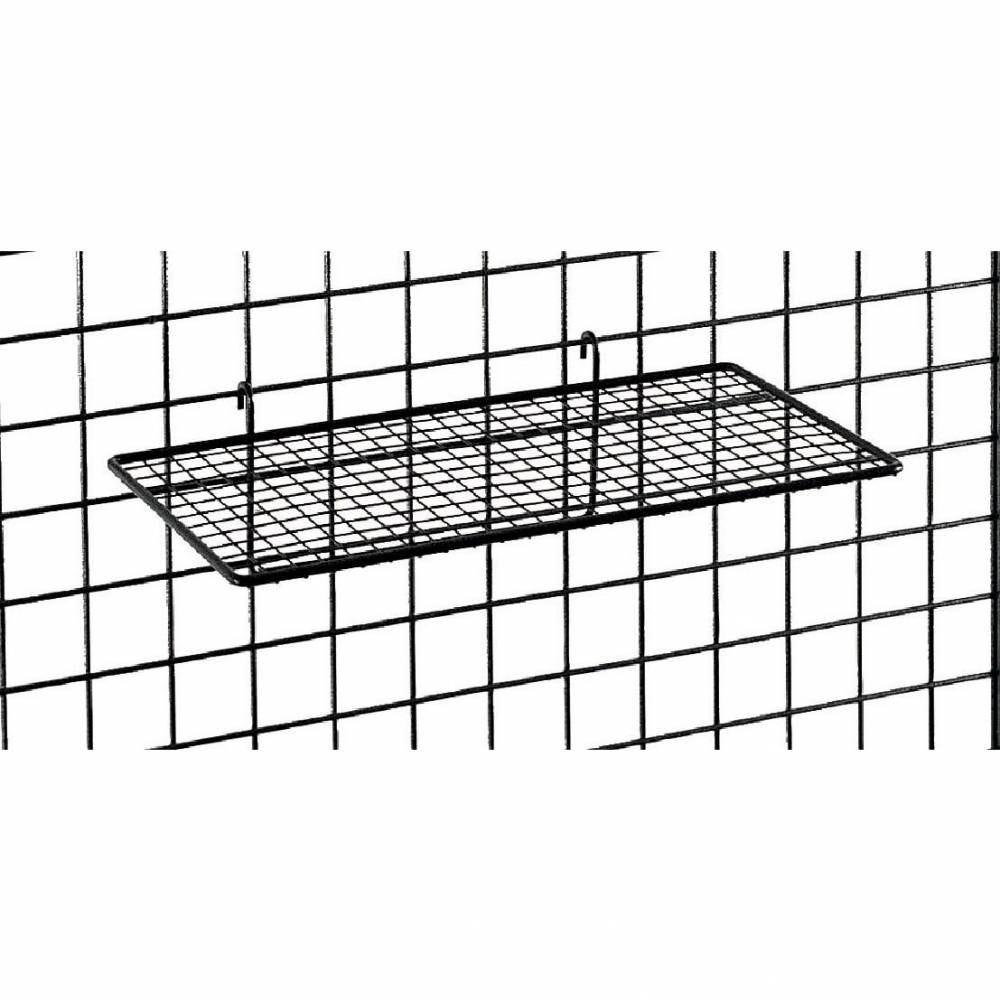 Tablette fil - mailles fine - 35 x 19 cm - gris martelé (photo)