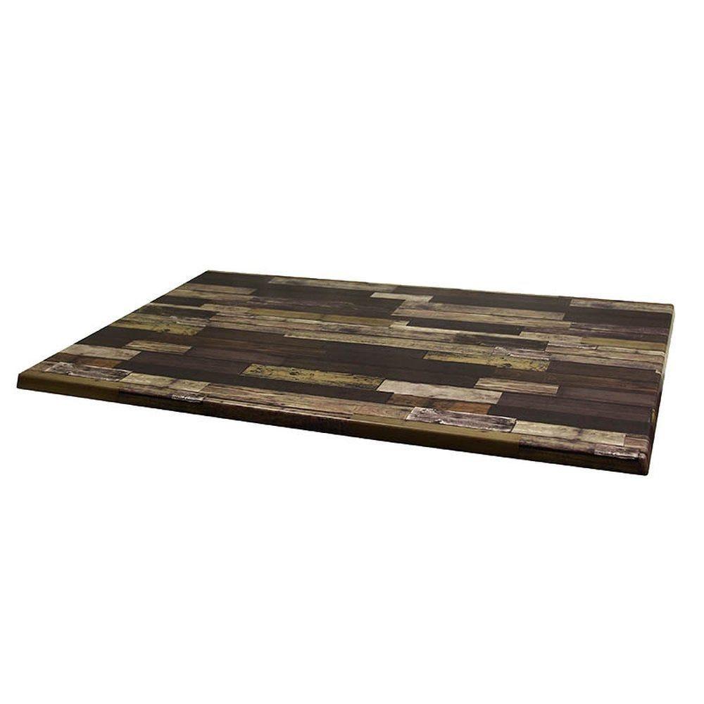 Plateau de table werzalit 110x70cm plancha brun