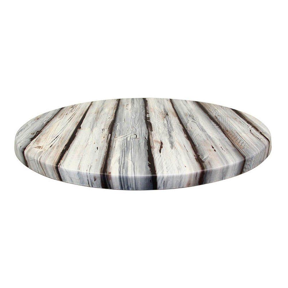 Plateau de table topalit ø60cm pin maritime