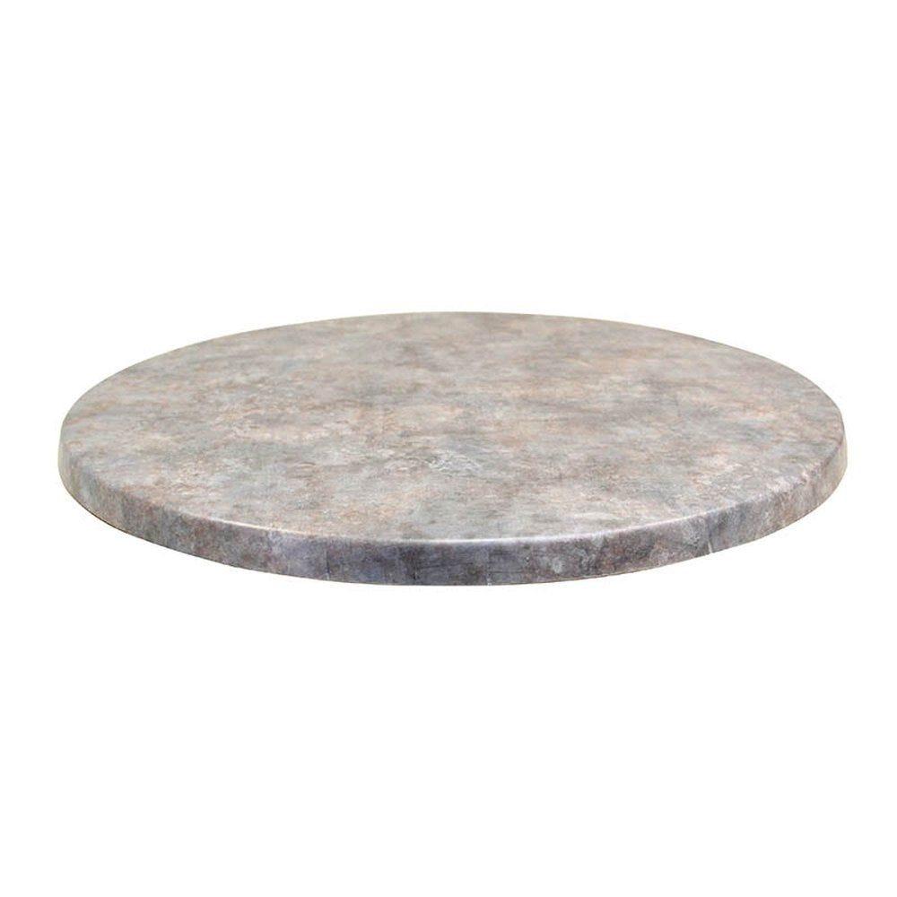 Plateau de table topalit Ø60cm zinc