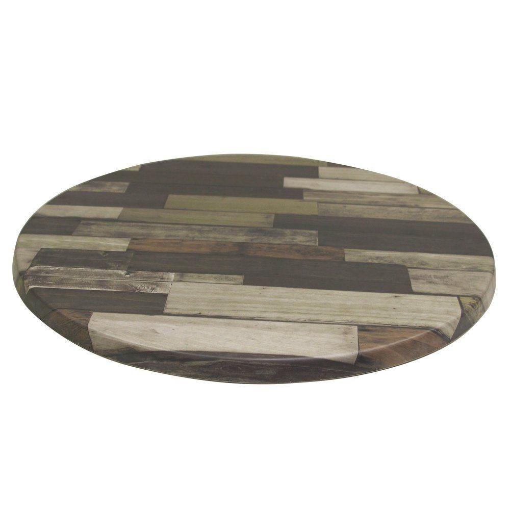 Plateau de table topalit ø60cm brun
