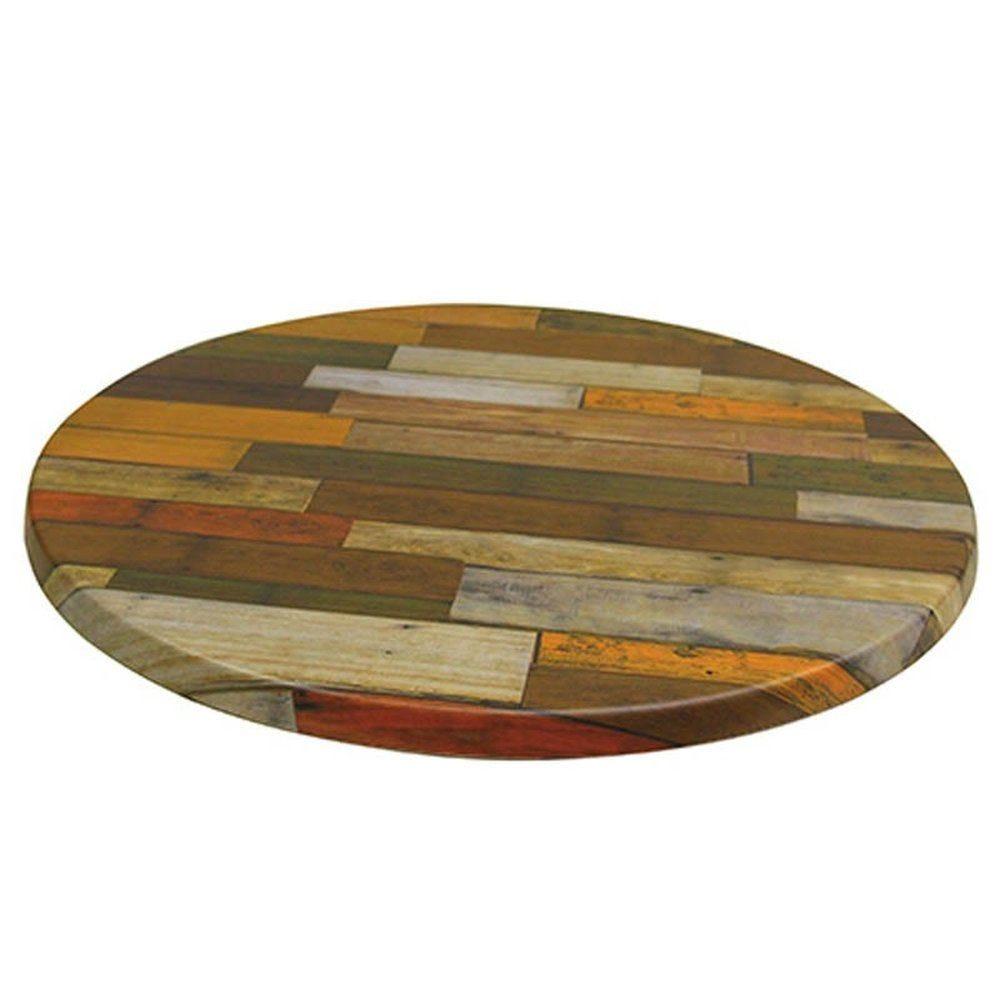 Plateau de table topalit ø60cm rouge