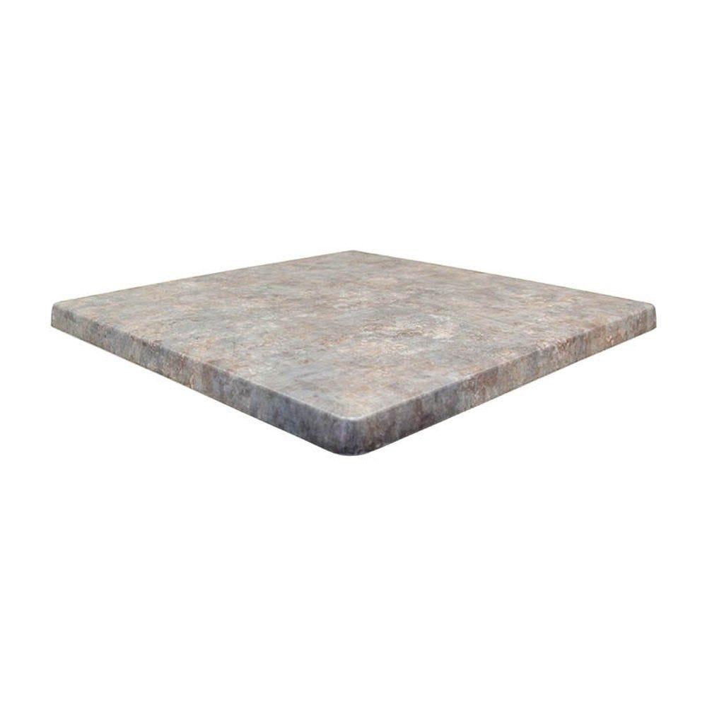 Plateau de table topalit 60x60cm zinc