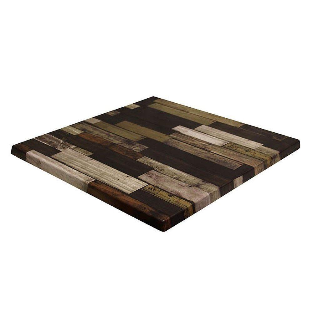 Plateau de table topalit 60x60cm brun