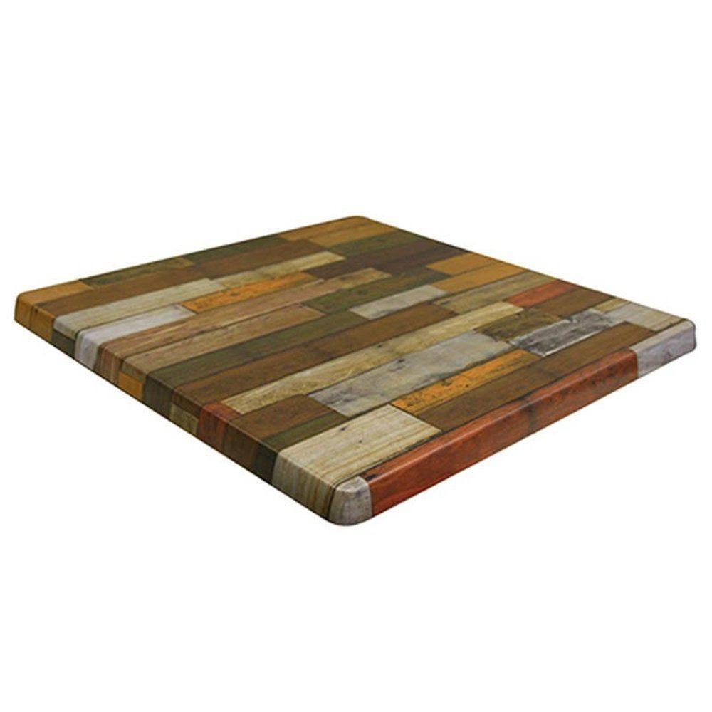 Plateau de table topalit 60x60cm rouge