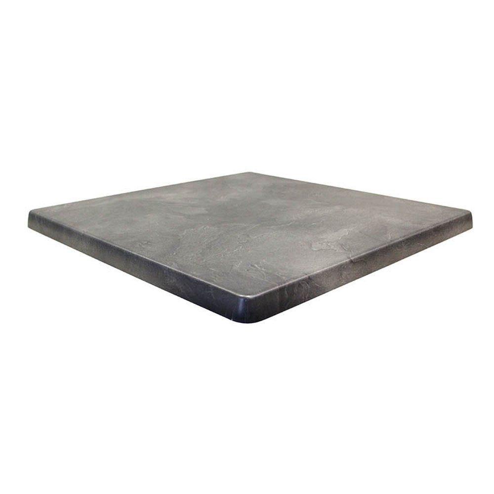 Plateau de table topalit 70x70cm ardoise