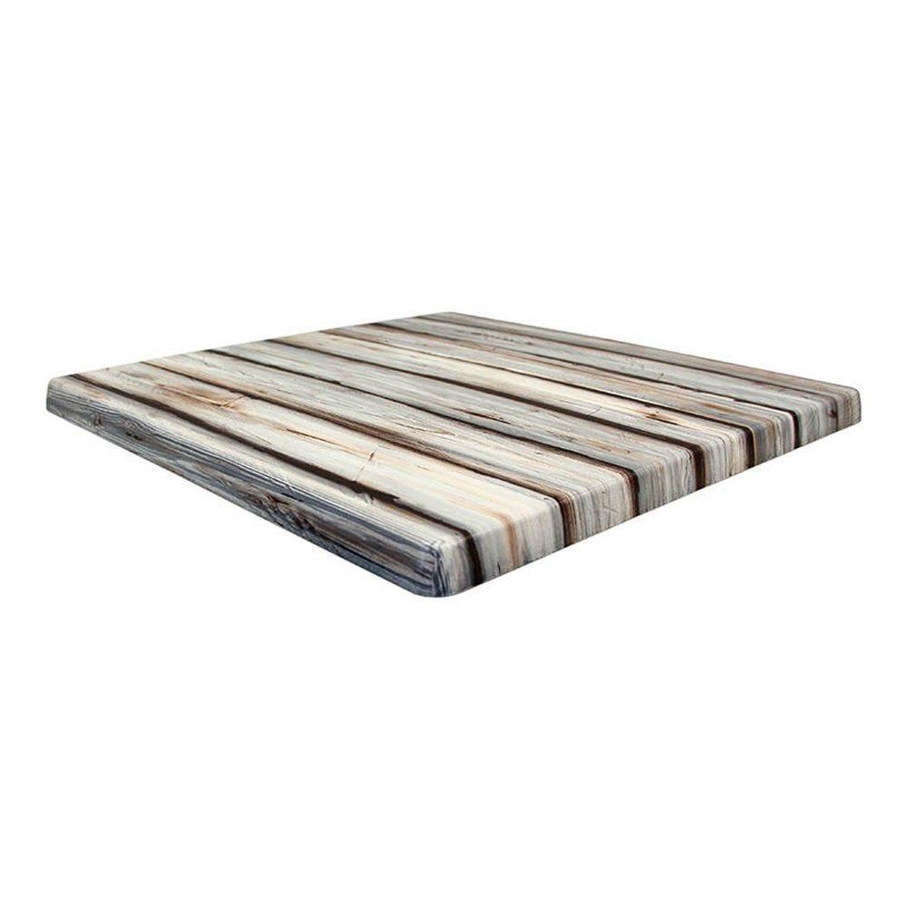 Plateau de table topalit 70x70cm pin maritime