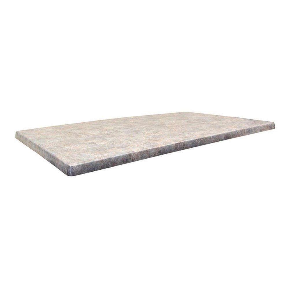 Plateau de table topalit 110x70cm zinc
