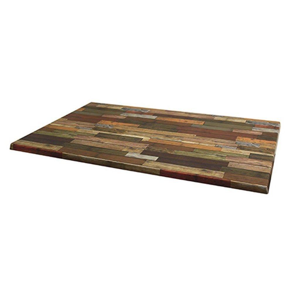 Plateau de table topalit 110x70cm rouge
