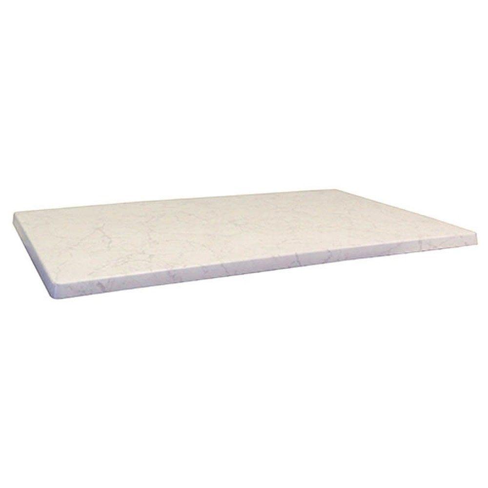 Plateau de table topalit 110x70cm blanc marbré