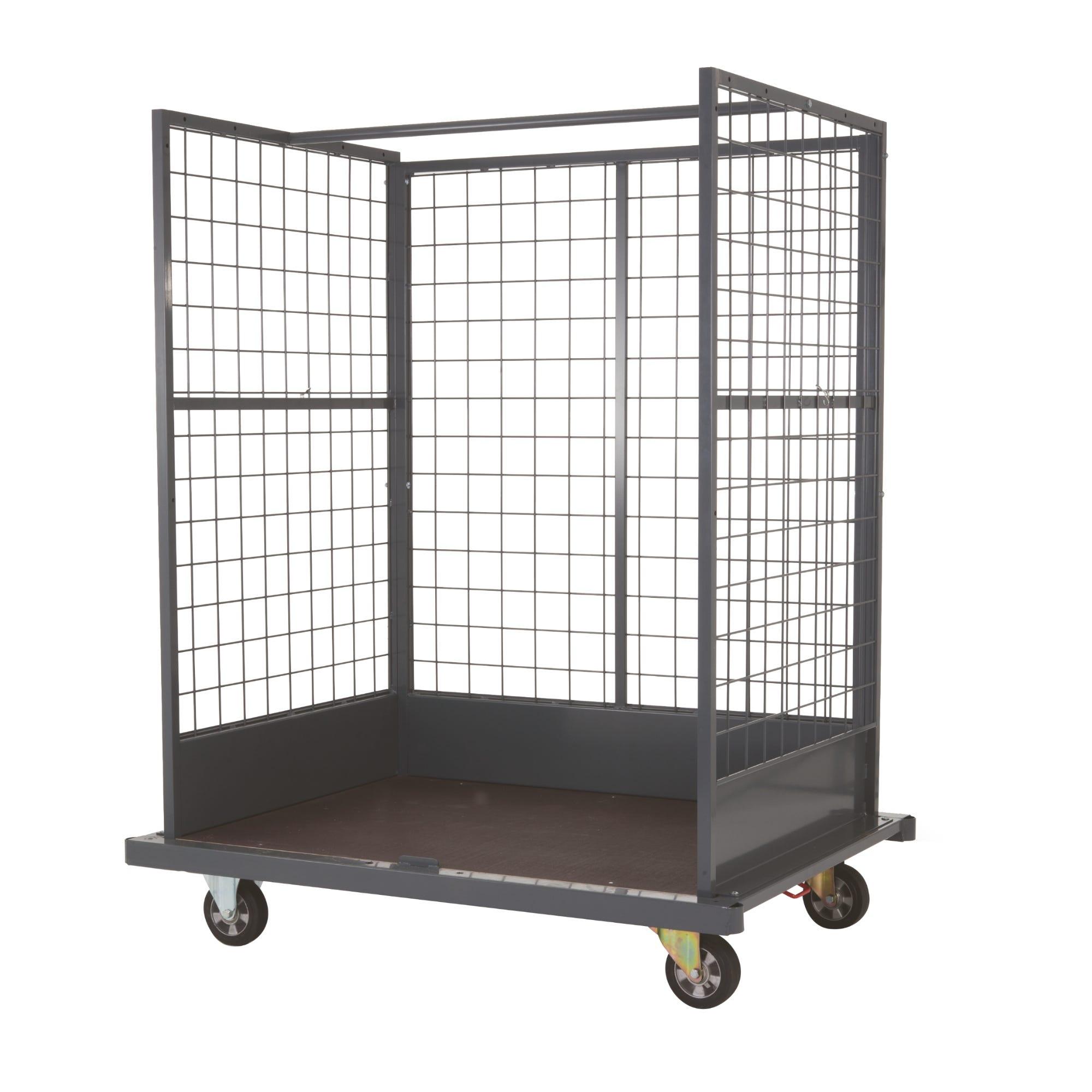 Chariot logistique pour charges volumineuses - L 154,4cm x l115cm x 192cm