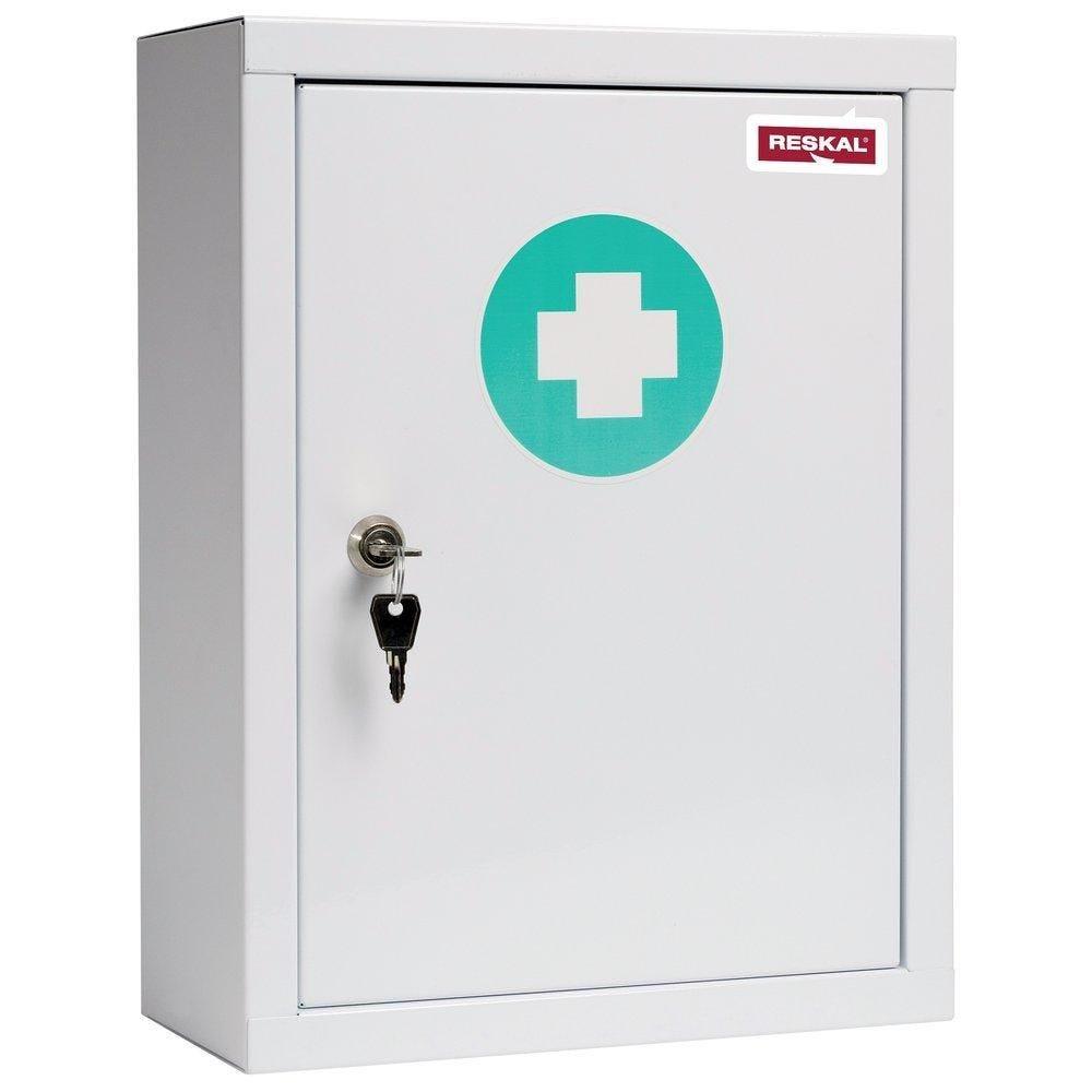 Armoire à pharmacie - 46 x 30 x 15 cm + 2 étagères métal amovibles (photo)