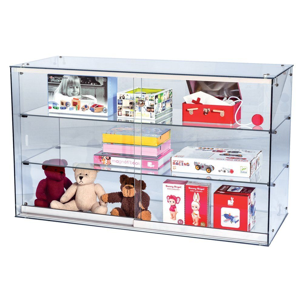 Vitrine transparent L.100xP.40xH.60 cm par 1 (photo)