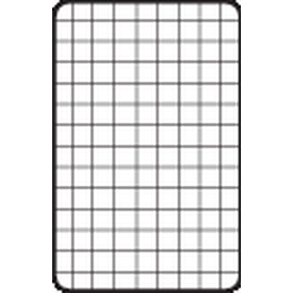 Grille double cadre cadre 100 x 80 cm - blanche (photo)