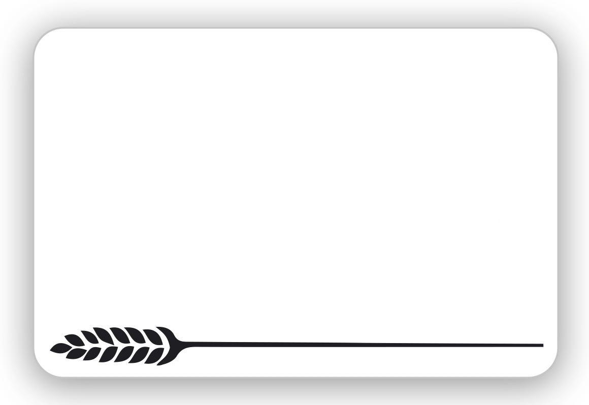 Etiquette sans attachement 'TOUT COMPRIX' boulangerie blanc 10,5x7cm par 10