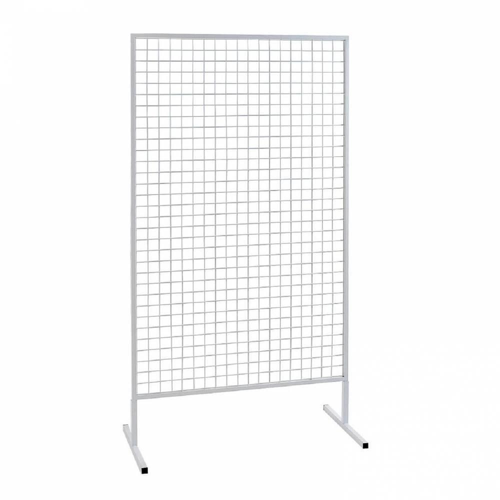 Présentoir grille cadre 187 x 100 cm - blanc (photo)