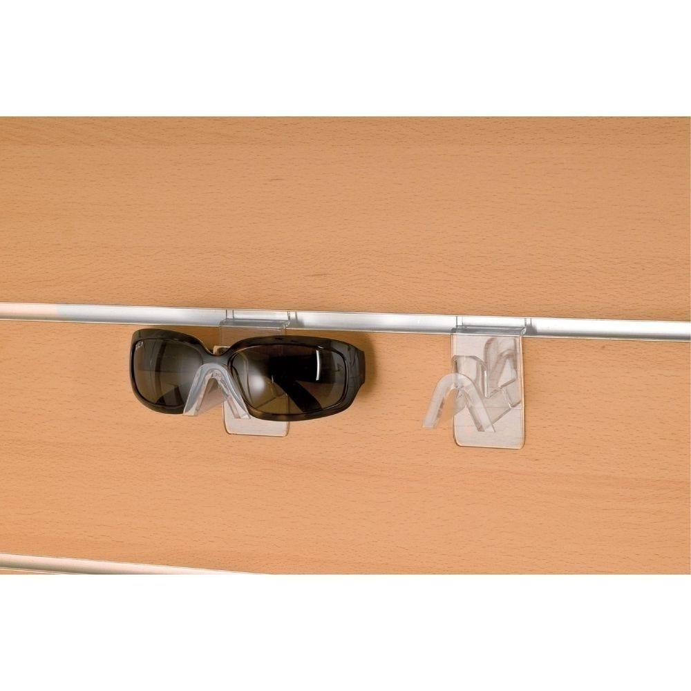 Support lunettes branches fermées pour fond rainuré