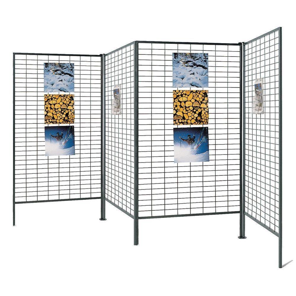 Présentoir grille cadre 187 x 120 cm - gris (photo)