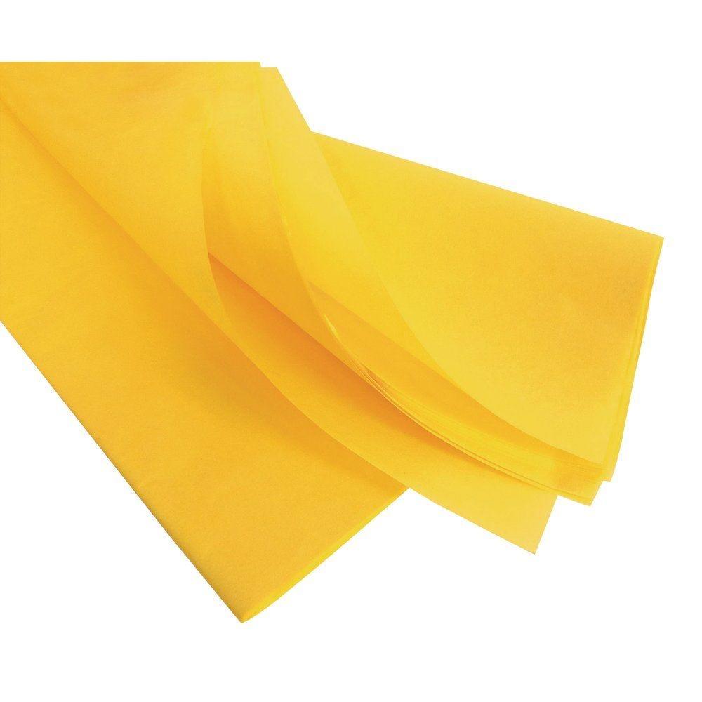 Papier de soie 50 x 75 cm - jaune (photo)